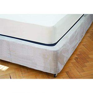 Belledorm - Funda de canapé Base de Ante sintético (48 cm) (Doble) (Aspecto Lino) 8