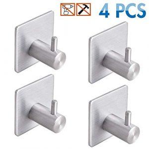Ganchos adhesivos de acero inoxidable resistentes para colgar abrigos, cocina y baño (adhesivo Hook) 2