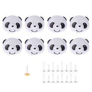 CADANIA 8X Cubierta de la Colcha de Panda Ropa de Cama de Agarre Edredón Funda nórdica Porta Clips Clips Juego de Sujetadores de Abrazadera 1