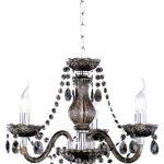 Reality Luster - Lámpara colgante de 3 luces. Necesarias 3 bombillas E14 de máximo 40W excluidas. Cuerpo acrílico color negro. 14