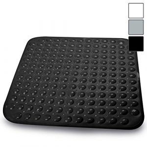 Sarenius Alfombrilla anticaídas para la Ducha - Agarre extrafuerte - PVC Antideslizante sin BPA - Negro - 53 x 54 cm 10