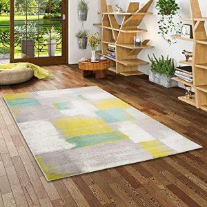 Pergamon Tango - Alfombra de diseño - Cuadros Gris Verde Turquesa gradiente - 5 tamaños 2