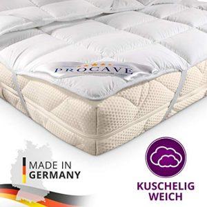 PROCAVE Micro Confort Protector colchón en Varios tamaños, Made in Germany, Funda colchón de Microfibra y poliéster, Soft Touch, Válido para Camas de Agua y Box Spring, 90x190 cm 1