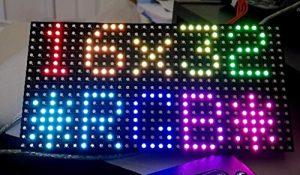 PANEL LED P10 RGB módulo LED Super brillante programable, 32 x 16 píxeles Full Color LED Matrix Panel, 1/8 Para Arduino NANO, UNO, MEGA o Raspberry 3