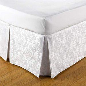 Jansons Direct Linens Belledorm - Cubre canapé Estampado Damasco de fácil Ajuste (Kingsize) (Blanco) 10