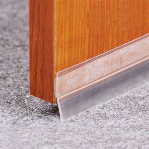 ToDIDAF - Tira de sellado de silicona transparente resistente al viento para mampara de ducha de plástico de goma para puerta de cristal curvada recta 6