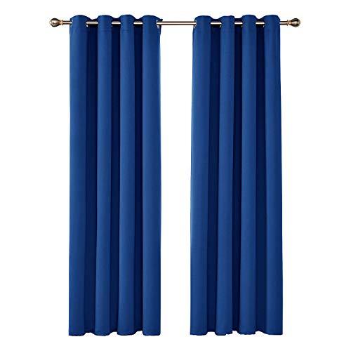 <ul><li>Cortinas Opacas de estilo simple y moderno son ideales para dormitorio, salón, cocina, hotel, oficina etc.</li><li>Está compuesta por 100% poliéster de alta calidad. Tela de alta densidad permite que las cortinas son suficientes para aislar calor, frío y ruido.</li><li>Hay 8 ojales redondos de 4 centímetros de diámetro en cada cortina. El tamaño de los ojales es adecuado para la mayoría de las barras en el mercado. Fáciles de colgarlas y deslizarlas en la barra.</li><li>La innovadora técnica de tejido triple (que consiste en insertar una capa de algodón negro entre dos capas de poliéster) ayuda a bloquear la luz y los rayos ultravioleta, mientras se ahorren los costes de calefacción y refrigeración.</li><li>2 paneles por cada paquete. La altura de la cortina se mide desde la parte superior del anillo. Se puede lavar a mano o en máquina en agua fría.</li></ul>